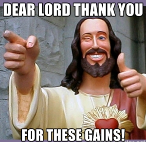 jesus bodybuilding meme