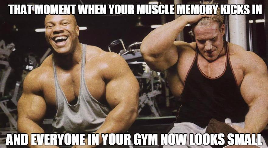 muscle memory meme